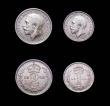 London Coins : A166 : Lot 1912 : Maundy Set 1922 ESC 2539, Bull 3982 EF to UNC a nicely matched set, the 1920s and 1930s sets now bec...
