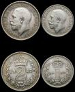 London Coins : A166 : Lot 1913 : Maundy Set 1927 ESC 2544, Bull 3987 EF to UNC with some hairlines, the Penny with a small edge nick ...