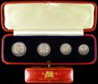 London Coins : A166 : Lot 1916 : Maundy Set 1929 ESC 2546, Bull 3989 EF to A/UNC lightly toned, in a long red dated case. Many of the...