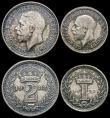 London Coins : A166 : Lot 1922 : Maundy Set 1932 ESC 2549, Bull 3993 GEF to A/UNC and nicely toned, Historical Note: 1932 was the fir...