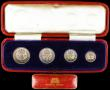 London Coins : A166 : Lot 1933 : Maundy Set 1936 ESC 2553, Bull 3997 A/UNC to UNC with matching tone, comes in a contemporary long re...