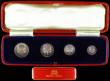 London Coins : A166 : Lot 1934 : Maundy Set 1936 ESC 2553, Bull 3997 A/UNC to UNC with matching tone, comes in a contemporary long re...