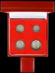 London Coins : A166 : Lot 1939 : Maundy Set 1949 ESC 2566, Bull 4318 GEF to UNC in a modern square red Maundy Money box