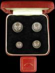 London Coins : A166 : Lot 1940 : Maundy Set 1952 ESC 2569, Bull 4322 GEF to UNC, in a square red Maundy Money box, distributed at Wes...