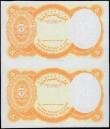 London Coins : A166 : Lot 196 : Egypt 5 Piastres Trial Colour Error Orange an uncut sheet of 2 no sign...