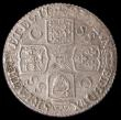 London Coins : A166 : Lot 2025 : Shilling 1723 SSC First Bust ESC 1176, Bull 1586 UNC or near so and lustrous, in an LCGS holder and ...