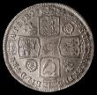 London Coins : A166 : Lot 2027 : Shilling 1734 3 over 3 the underlying 3 well to the left, as ESC 1197, Bull 1706, LCGS variety 02 EF...