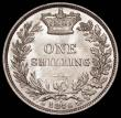 London Coins : A166 : Lot 2037 : Shilling 1876 ESC 1328, Bull 3046 Die Number 4 UNC and lustrous, one of the finest examples we have ...