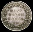London Coins : A166 : Lot 2260 : Three Shilling Bank Token 1814 ESC 422 GVF with even grey toning