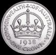 London Coins : A166 : Lot 2617 : Australia Crown 1938 KM#34 EF, the reverse slightly better, with some hairlines