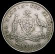 London Coins : A166 : Lot 2619 : Australia Florin 1914H KM#27 a solid VF with 6 pearls showing, Rare