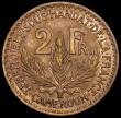 London Coins : A166 : Lot 2666 : Cameroon 2 Francs 1924 KM#3 EF/Near EF the reverse with a small spot