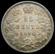 London Coins : A166 : Lot 2669 : Canada 25 Cents 1872H KM#5 NVF/Fine with signs of old cleaning, now attractively retoned