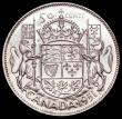 London Coins : A166 : Lot 2672 : Canada 50 Cents 1951 as KM#45 but with double struck HP initials, Lustrous UNC