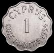 London Coins : A166 : Lot 2690 : Cyprus 1 Piastre 1934 KM#21 UNC the obverse with minor cabinet friction
