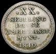 London Coins : A166 : Lot 2692 : Danish West Indies 20 Skilling 1840 KM#17 NVF