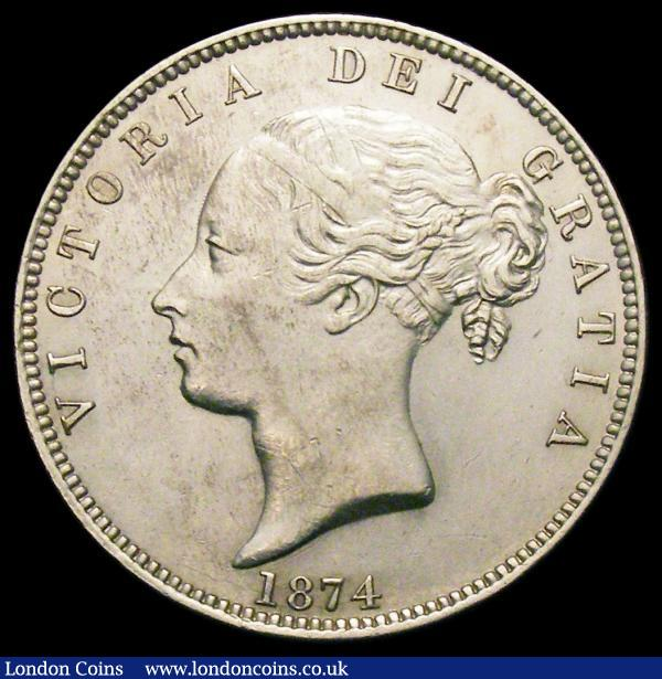 Halfcrown 1874 ESC 692, Bull 2741 NEF with some light contact marks : English Coins : Auction 166 : Lot 2960