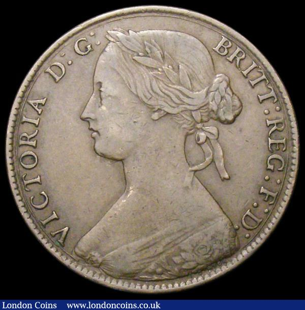 Penny 1861 Freeman 25 dies 4+G Good Fine/NVF : English Coins : Auction 166 : Lot 3012