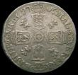London Coins : A166 : Lot 3028 : Sixpence 1705 Plumes, Early Shields ESC 1584, Bull 1448 Near VF the obverse with some scratches, Rar...