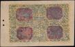 London Coins : A166 : Lot 463 : Tibet 50 Tam Pick 7b Long serial number frame Cycle 16 (1673-87). Blue and red on yellow underprint,...