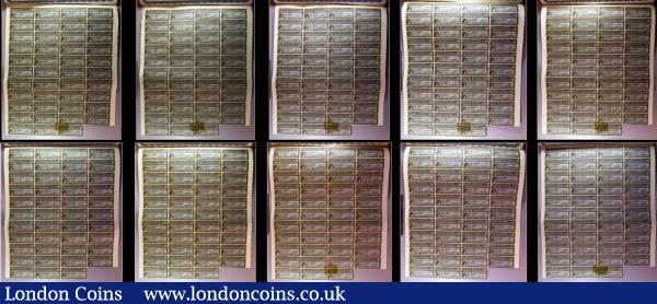 China, Chinese Government 1913 Reorganisation Gold Loan, 10 x bonds for £100 Hong Kong & Shanghai Bank issues, vignettes of Mercury and Chinese scenes, black & blue, with coupons. Generally Fine to Good Fine with pencil annotations, some with pinholes : Bonds and Shares : Auction 166 : Lot 5