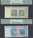 London Coins : A166 : Lot 517 : Zimbabwe Reserve Bank 2008 issues (2) in PCGS Currency holders comprising 100 Trillion Dollars Repla...