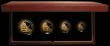 London Coins : A166 : Lot 529 : Britannia Gold Proof Set 2007 the 4-coin set comprising £100 One Ounce, £50 Half Ounce, ...