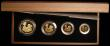 London Coins : A166 : Lot 531 : Britannia Gold Proof Set 2009 the 4-coin set comprising £100 One Ounce, £50 Half Ounce, ...