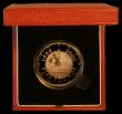 London Coins : A166 : Lot 590 : Five Pound Crown 1999 Millennium Gold Proof FDC in the case of issue with certificate