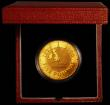 London Coins : A166 : Lot 591 : Five Pound Crown 1999 Millennium Gold Proof S.L7 nFDC toned in the Royal Mint box of issue with cert...