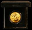 London Coins : A166 : Lot 614 : Five Pounds 1992 Gold BU in the Royal Mint's green velvet box of issue with certificate