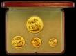 London Coins : A166 : Lot 676 : Proof Set 1937 (4 coins) Five Pounds, Two Pounds, Sovereign and Half Sovereign nFDC to FDC, with min...