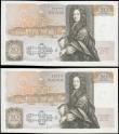 London Coins : A166 : Lot 85 : Fifty Pounds Kentfield QE2 pictorial and Sir Christopher Wren B361 issues 1991 (2) FIRST RUN from ci...
