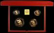 London Coins : A166 : Lot 876 : United Kingdom 1996 Gold Proof Four Coin Sovereign Collection, Gold Five Pounds, Two Pounds, Soverei...