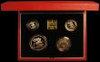 London Coins : A166 : Lot 878 : United Kingdom 1997 Gold Proof Four Coin Sovereign Collection, Gold Five Pounds, Two Pounds, Soverei...