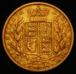 London Coins : A167 : Lot 1007 : Sovereign 1864 Marsh 49, Die Number 75 About Fine