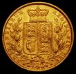 London Coins : A167 : Lot 1021 : Sovereign 1872M 2 over 1 Shield Reverse, Marsh 59A, Fine/Good Fine and rated R4 by Marsh with 15-25 ...