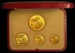 London Coins : A167 : Lot 103 : Proof Set 1937 (4 coins gold set) Five Pounds, Two Pounds, Sovereign and Half Sovereign UNC to nFDC ...