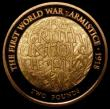 London Coins : A167 : Lot 1271 : Two Pounds 2018 100th Anniversary of the First World War Armistice, Gold Proof S.K49 FDC uncased in ...