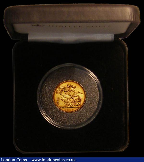 Sovereign 1893 Veiled Head Marsh 145 Fine/NVF in a Jubilee Mint box with certificate : English Cased : Auction 167 : Lot 135