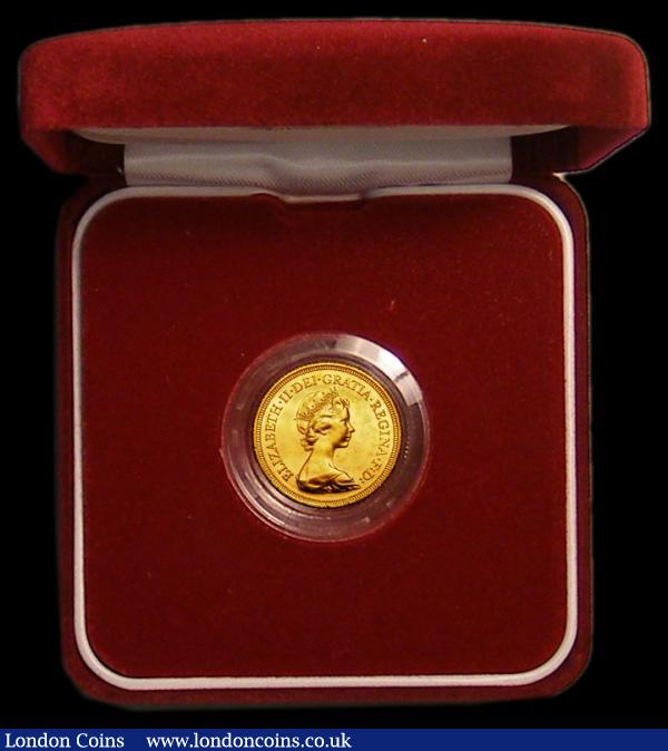 Sovereign 1981 Unc in The Royal Mint's presentation box with The Historic Sovereign Collection certificate : English Cased : Auction 167 : Lot 139