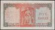 London Coins : A167 : Lot 1464 : Ceylon Central Bank 5 Rupees Pick 54 dated 16th October 1954 serial number G/17 687177. A stunning B...