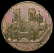London Coins : A167 : Lot 1729 : Halfpenny 18th Century Yorkshire - York 1795 Clifford's Tower Obverse: View of a cathedral/ Rev...