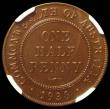 London Coins : A167 : Lot 1864 : Australia Halfpenny 1938 Proof KM#35 in an NGC holder and graded PF65+ BN, the first Proof minting o...