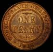 London Coins : A167 : Lot 1873 : Australia Penny 1918 I KM#23 UNC or near so and with traces of lustre, the centre diamond full and a...