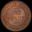 London Coins : A167 : Lot 1874 : Australia Penny 1920 KM#23 UNC or very near so with traces of lustre on either side, the obverse sho...