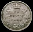 London Coins : A167 : Lot 1893 : Canada Ten Cents 1886 Large, Knobbed 6 in the date (see illustration in Charlton page 102) Portrait ...