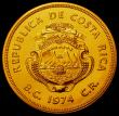 London Coins : A167 : Lot 1907 : Costa Rica 1500 Colones Gold 1974 World Conservation Series Obverse: National Arms, Reverse: Giant A...