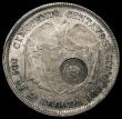 London Coins : A167 : Lot 1909 : Costa Rica 50 Centavos Counterstamped Coinage type VII (1889) on host coin Colombia Cincuenta Centav...