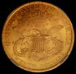 London Coins : A167 : Lot 2052 : USA Twenty Dollars Gold 1900 as Breen 7334, Old Reverse hub, the feathers on the back of the eagle&#...